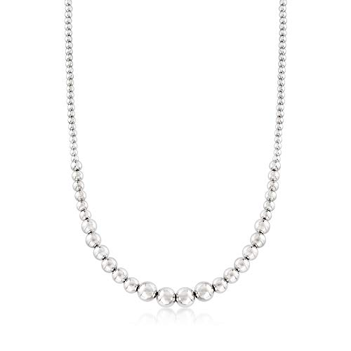 Ross-Simons Italian 4-10mm Sterling Silver Graduated Bead Necklace