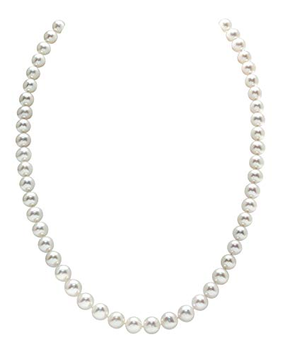 THE PEARL SOURCE 14K Gold 5.0-5.5mm AAAA Quality White Freshwater