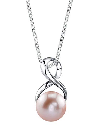 THE PEARL SOURCE 9-10mm Genuine Pink Freshwater Cultured Pearl