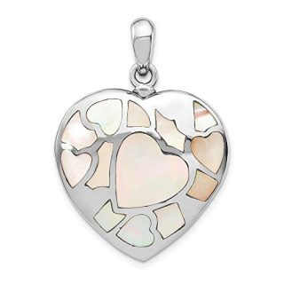 Sterling Silver Mother Of Pearl Ash Holder Pendant Charm Necklace