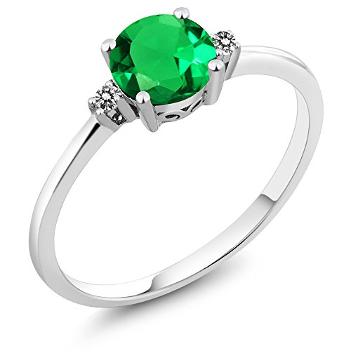 Gem Stone King 10K White Gold Diamond Accent Women's Ring