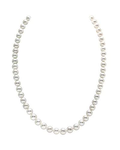 THE PEARL SOURCE 14K Gold 7-8mm AAAA Quality Round White