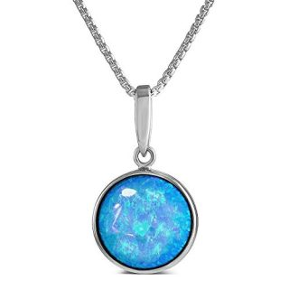 Paul Wright Created Opal Pendant Necklace