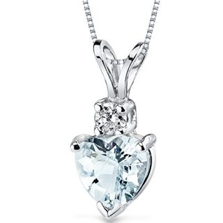 14 Karat White Gold Heart Shape 0.75 Carats Aquamarine