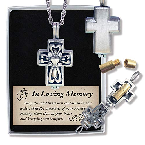 Jewels By Lux Pewter Crystal Memorial Cross