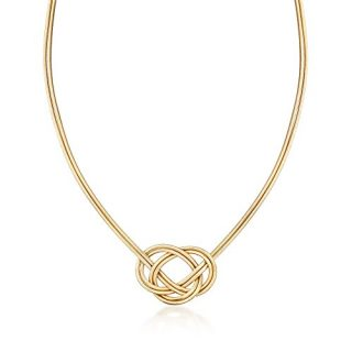 Ross-Simons Italian Two-Strand Flex Knot Necklace