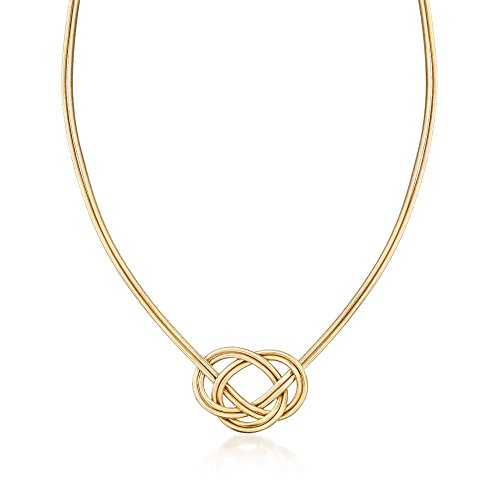 Ross-Simons Italian Two-Strand Flex Knot Necklace
