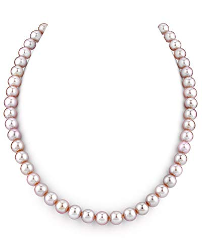 THE PEARL SOURCE 7-8mm AAA Quality Round Pink Freshwater