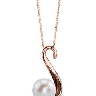 THE PEARL SOURCE 8-9mm Genuine White Freshwater Cultured Pearl
