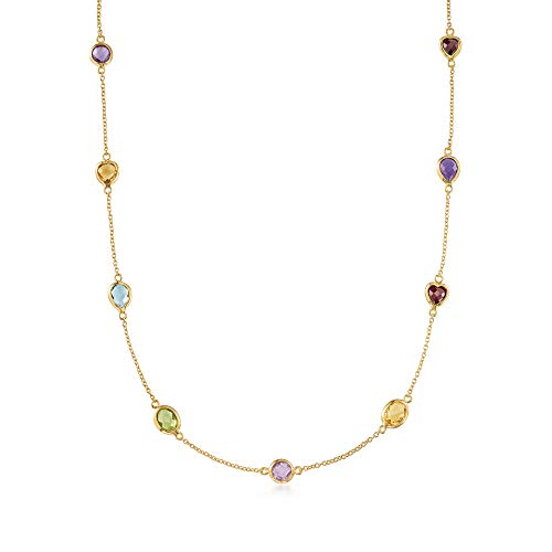 Ross-Simons 10.40 ct. t.w. Multi-Stone Station Necklace