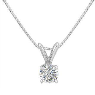 Amanda Rose Collection 1/3ct Diamond Solitaire Pendant