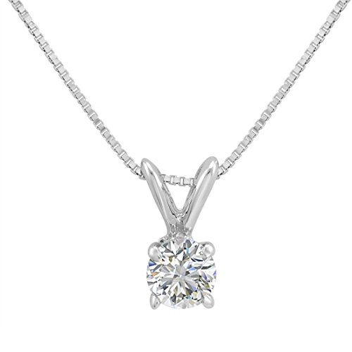 Amanda Rose Collection 1/3ct Diamond Solitaire Pendant