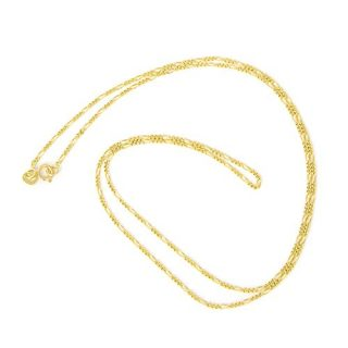 Beauniq 14k Yellow Gold 1.2mm Classic Figaro Chain Necklace