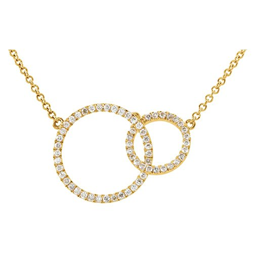 "Jewels By Lux 14K Yellow Gold 1/3 CTW Diamond Circle 18"" Necklace"