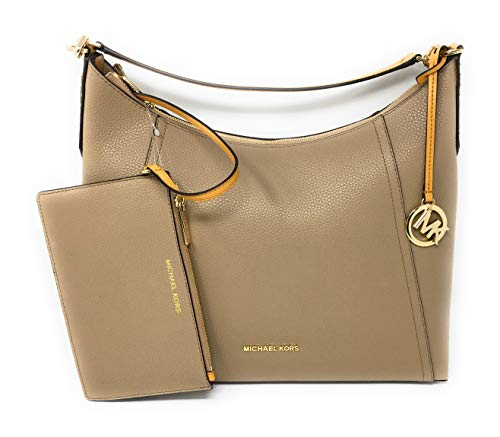 Michael Kors Kimberly Large Studded Leather Shoulder Bag Purse Handbag