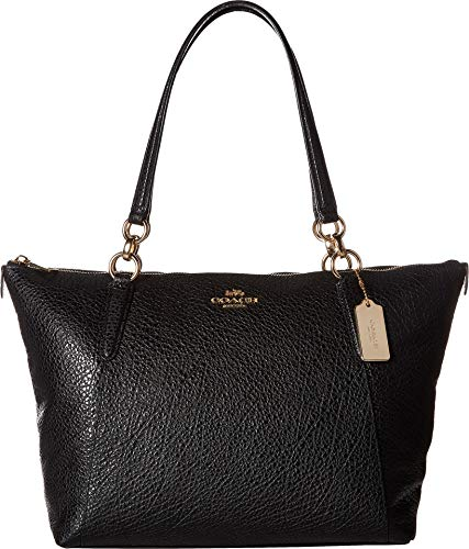COACH Women's Leather Ava Tote Black One Size