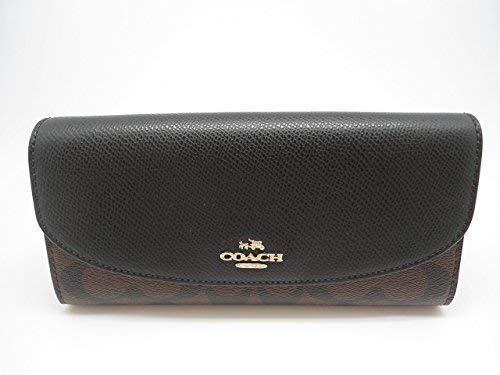 Coach Signature PVC Slim Envelope Wallet IM/Brown/Black