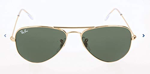 Ray-Ban Aviator Small Metal Sunglasses, Gold/Green