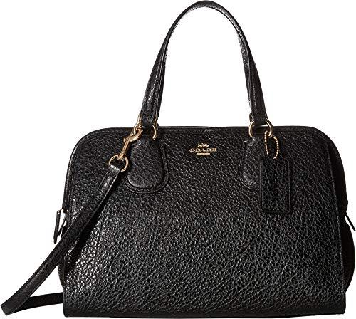 COACH Women's Pebbled Nolita Satchel Black One Size