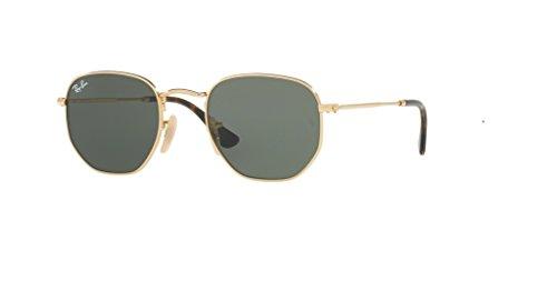Ray-Ban HEXAGONAL 001 51M Gold/Green Sunglasses