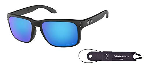 Oakley Holbrook Matte Black/Prizm Sapphire Polarized Sunglasses
