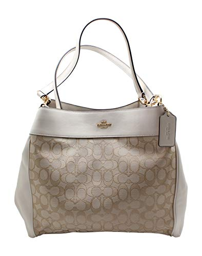 LEXY SHOULDER BAG LIGHT KHAKI/CHALK/IMITATION GOLD