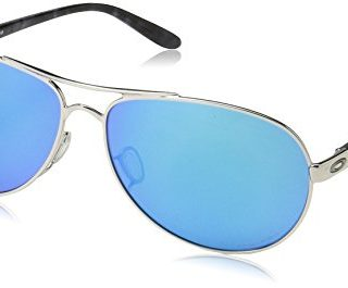 Oakley Women's Feedback Aviator Metal Sunglasses