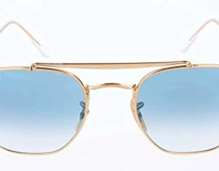 Ray-Ban The Marshal Square Sunglasses, Gold/Blue Gradient