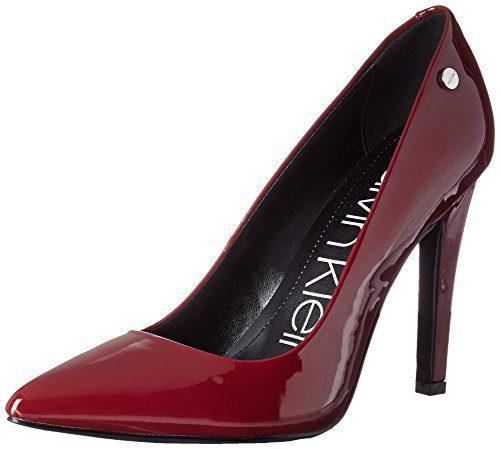 Calvin Klein Women's Brady Pump, Red Rock Patent
