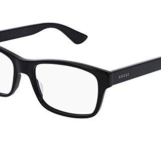 Gucci GG Black Plastic Rectangle Eyeglasses 55mm