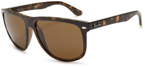 Ray-Ban Boyfriend Square Sunglasses, Light Tortoise/Polarized Brown