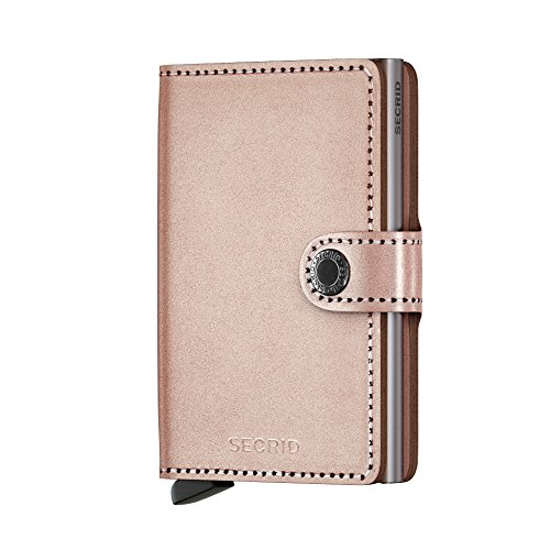 Secrid Miniwallet Metallic Rose Leather Wallet