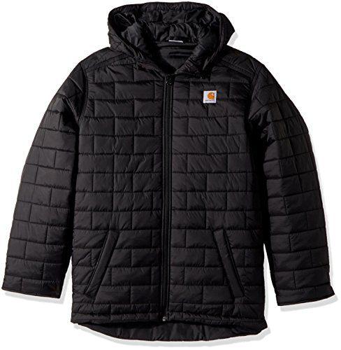 Carhartt Boys' Big Gilliam Hooded Jacket, Black