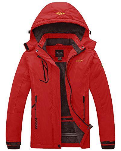 Wantdo Women's Waterproof Mountain Jacket Fleece Windproof Ski