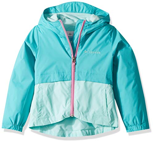 Columbia Girls' Big Rain-Zilla Jacket, Geyser/Gulf Stream