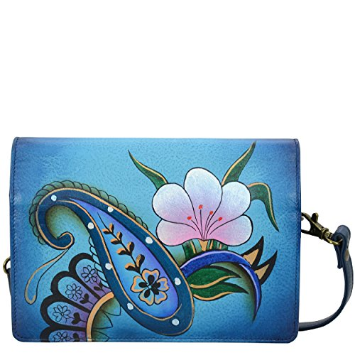Anna by Anuschka Handpainted Leather Women's Two Fold Wallet On A String