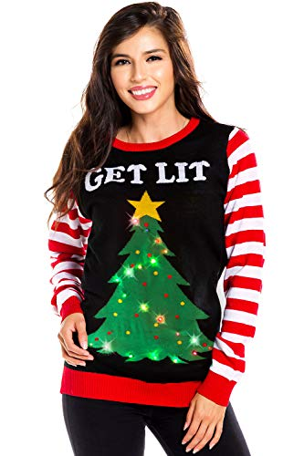 Tipsy Elves Women's Light Up Christmas Sweater