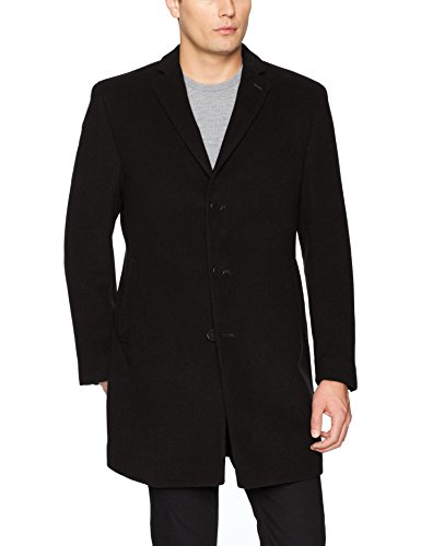 Calvin Klein Men's Slim Fit Wool Blend Overcoat Jacket