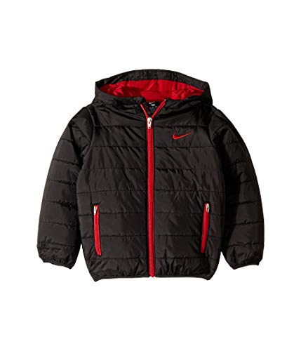 Nike Kids Boy's Quilted Jacket (Little Kids) Black