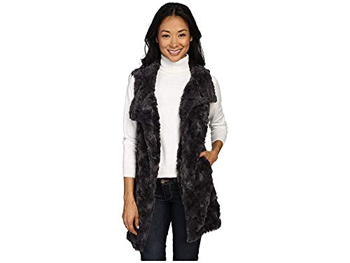 Dylan by True Grit Women's Plush Faux Classic Silky Fur Long Snap