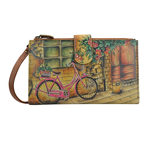 Anuschka Women's Handpainted Leather Large Smartphonecase & Wallet