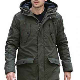 YsCube Mens Parka Jackets for Men Winter Coats for Men