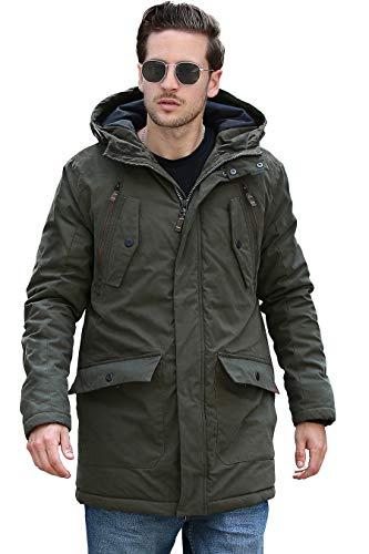 YsCube Mens Parka Jackets for Men Winter Coats for Men