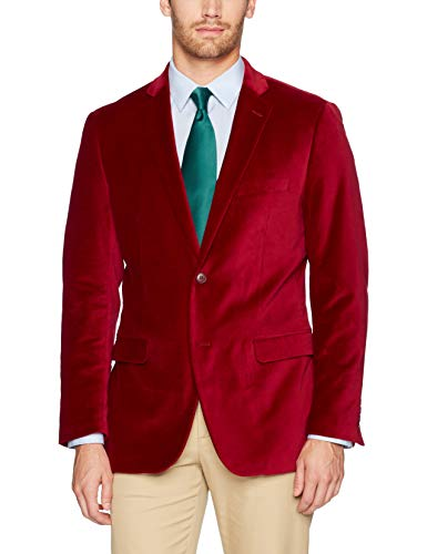U.S. Polo Assn. Men's Velvet Sport Coat, Crimson