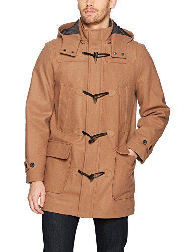 Nautica Men's Hooded Wool Toggle Coat, Camel