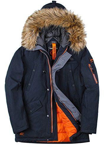 TIGER FORCE Parka Coat Winter Men Thicken Hooded Jacket