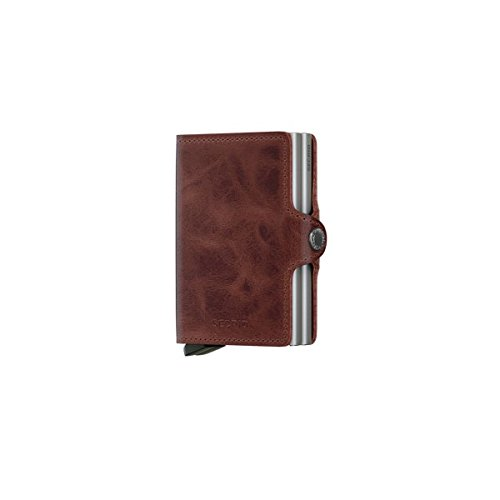 Secrid Twin wallet leather brown, Credit Card Wallet / with RFID protection