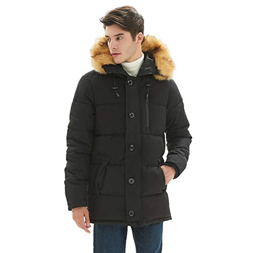 PUREMSX Mens Winter Jacket, Men's Classic Hooded Puffer Anorak Jacket
