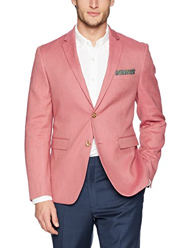 Original Penguin Men's Slim Fit Blazer, Medium red Solid