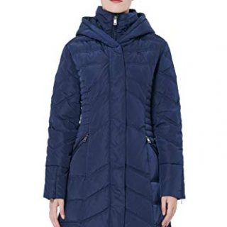Orolay Women's Thickened Coat Puffer Down Jacket Navy XL